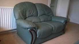 TWO 2 SEATER LEATHER SOFA'S