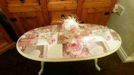 Beautiful shabby chic vintage coffee table