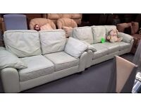 leather sofa suite 3 and 2 seaters for 115 pounds