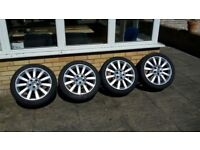 4 x 18' inch, Vauxhall alloy wheels 5 X 108 with tyres.