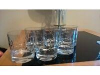 6 x whiskey glasses