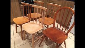 £25 for 5x wooden chairs