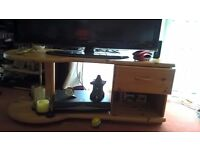 Solid wood, tv unit, £30:00 or make an offer, collect only