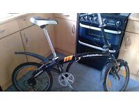 Bicycles4u folding bike cosmetically rough mechanically sound