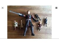Star Wars talking Luke sky walker and other figures bundle