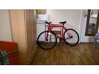 Muddyfox Roadster Road Bike (Single gear) – Red - Double Locks