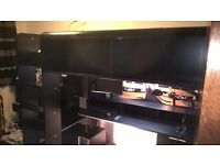 Thuka High Tek High Sleeper (black, good as new with inbuilt desk, drawers and shelving)