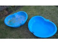 KIDS SANDPIT / WATER PLAY TUBS.