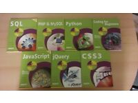 CSS3, PHP, MySQL, Javascript, Python and jQuery Books - In Easy Steps