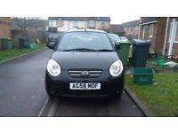 BLACK KIA PICANTO ICE, PARKING SENSORS, 2 keys,LOW MILEAGE-59.865,07940271598, 07935761326