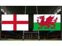 2 Tickets for England v Wales 6 nations Saturday 10th February