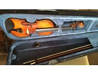 BRAND NEW 3/4 BEGINNER VIOLIN. BOW AND CASE INCLUDED.
