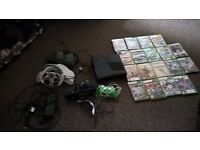 xbox 360, kinect, steering wheel and games