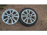 "for sale 2 Vauxhall zafira 17"" alloys few scuffs £50 ono"