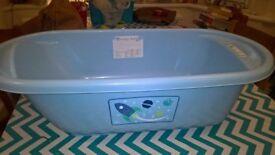 blue mothercare baby bath