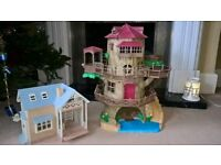 Sylvanian Families Treehouse and Riverside Lodge - keep your little ones occupied with hours of play