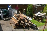 free wood from shed up for grabs