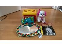 Baby/Toddler toys, Fisher Price and Bright stars, 5 items, good condition