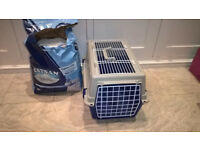 Fantastic bargain of Cat basket, cat accessories and masses of good quality cat food