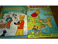Rupert The Bear Daily Express Annuals 1974 & 1975 Good Condition