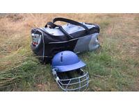 Cricket Helmet and Bag