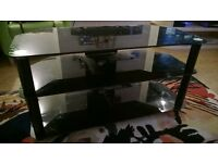 TV cabinet, Black glass suits tv around 42 inch