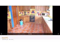 Complete Used Kitchen- solid wood, oven, sink and tiles included