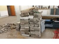 Free Used Concrete Blocks ready for collection. Landfill or reuse.