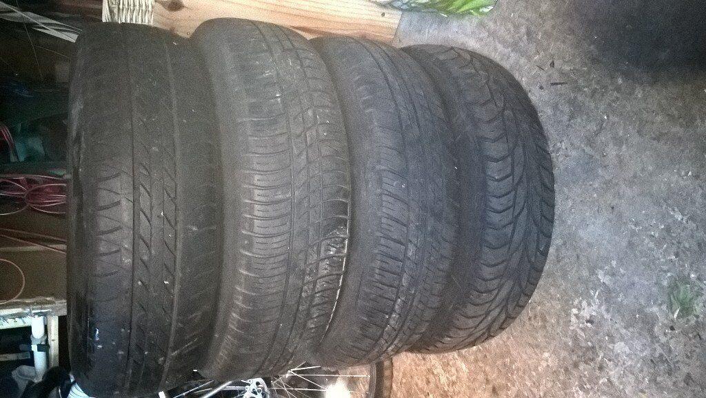 4 Mk4 Golf Steel Wheels with Tyres