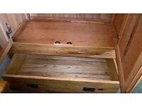 Solid Light Oak 2 door wardrobe with single lower drawer up for sale!!!