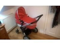 Red Joolz travel system in good condition