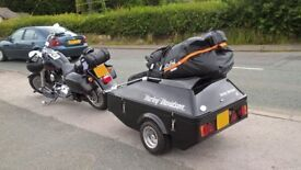 Harley Davidson Decaled Watsonian Squire D18 SE Motorcycle Trailer.