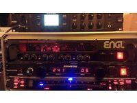ENGL Tube Poweramp, Korg tuner, PowerBrite Pro 10, 4U rack