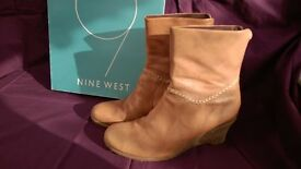 Nine West brown leather boots size 7