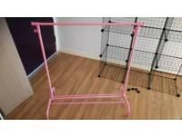 Clothes rail pink