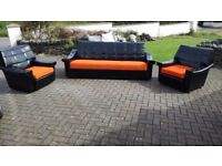 Retro sofa and 2 arm chairs