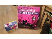 Girls Roller Skates & Safety Pads - Brand new boxed