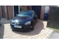 2012 Black VW Golf 1.6 TDI Bluemotion 5 door - 25761 miles