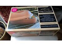 Clay Cooker by Mason & Cash. Used Once. Roasts and Steams food in own juices in Oven.
