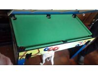 Pool Table with Table Football Overlay