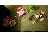 Polly pockets and baby born stuff