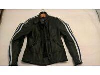 Ladies Scott Leather Motorcycle Jacket Size 8