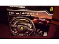 Xbox 360 steering wheel and peddles