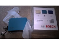 Bosch Toaster, New in box, Two slice, Blue.