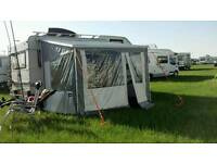 Camper and caravan awning