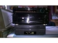 five disk sony player tape radio