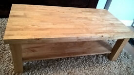 Solid Oak coffee table (Cotswalds) GREAT CONDITION £75 (PRICED LOW FOR QUICK SALE)