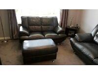 3 seater,2 seater sofa plus large stool
