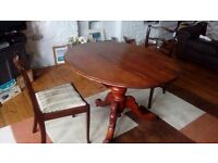 Antique table and 2 chairs