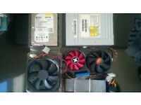 job lot bundle pc building toshiba dvd rw 120gb WD caviar black hdd 120mm and 80mm fans and cables